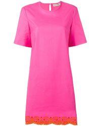 Emilio Pucci - Sangallo Embroidered Shift Dress - Lyst