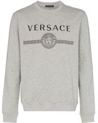 Versace Sweater Met Logoprint - Grijs