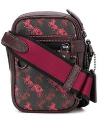 COACH All-over Print Messenger Bag - Black