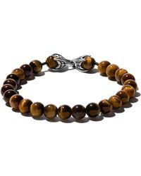 David Yurman Spiritual Beads Tiger Eye Bracelet - Brown