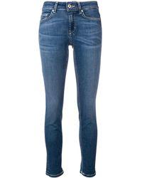 Dondup Cropped-Skinny-Jeans - Blau