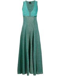 Pinko Трикотажное Платье Миди - Зеленый