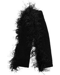 P.A.R.O.S.H. Lively ファートリム スカーフ - ブラック