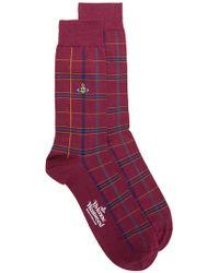 Vivienne Westwood - Checked Socks - Lyst
