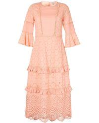 We Are Kindred Платье Миди Lua Со Складками - Розовый