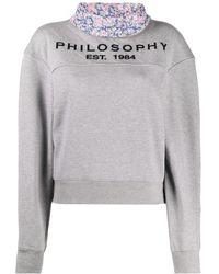 Philosophy Di Lorenzo Serafini - コントラストカラー スウェットシャツ - Lyst