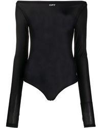 Off-White c/o Virgil Abloh Semi-sheer Bodysuit - Black