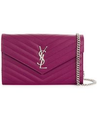 Saint Laurent | Envelope Crossbody Bag | Lyst