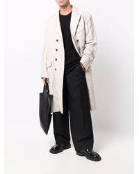 Ziggy Chen Doppelreihiger Trenchcoat - Weiß