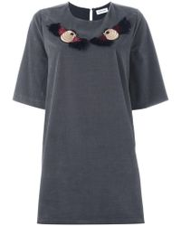 Au Jour Le Jour - Embroidered Bird T-shirt Dress - Lyst