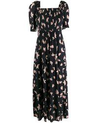 Ba&sh Kiwa フローラル ドレス - ブルー