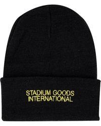 Stadium Goods Logo Embroidered Beanie - Black
