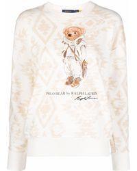 Polo Ralph Lauren Sweater Met Print - Naturel