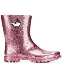 Chiara Ferragni - Logomania Rain Boots - Lyst