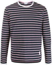 Thom Browne T-shirt a righe - Blu