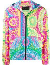 Versace Куртка На Молнии С Принтом Baroque - Синий