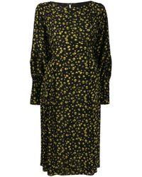 Erika Cavallini Semi Couture シルクドレス - ブラック
