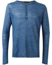 Zanone - Henley T-shirt - Lyst
