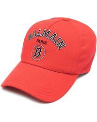 Balmain Бейсболка С Логотипом - Красный