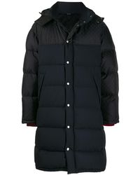 Gucci GG Feather Down Hooded Coat - Black