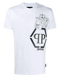 Philipp Plein Футболка С Графичным Принтом - Белый