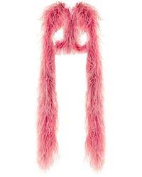 16Arlington Шаль С Отделкой Перьями - Розовый