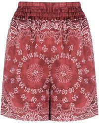 Golden Goose Deluxe Brand Bandana-print Satin Shorts - Red
