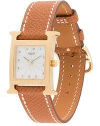 Hermès Наручные Часы Pre-owned С Квадратным Корпусом - Коричневый