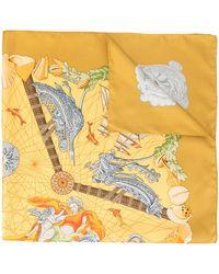 Hermès Sjaal Met Print - Geel