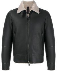Tagliatore シアリングライニング コート - ブラック