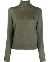 Nili Lotan Bella Roll-neck Jumper - Green