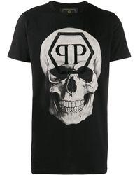Philipp Plein スカルプリント Tシャツ - ブラック