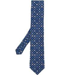 Etro Zijden Stropdas Met Print - Blauw