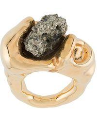 Marni Кольцо С Камнем - Металлик