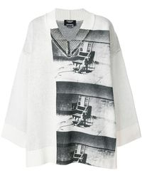 CALVIN KLEIN 205W39NYC - X Andy Warhol Foundation Little Electric Chair V-neck Jumper - Lyst