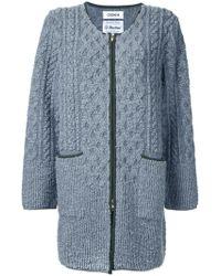 Coohem Pile Aran Knit Coat - Grey