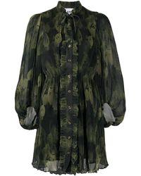 Ganni - プリーツ ドレス - Lyst