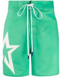 Perfect Moment Star Swim Shorts - Green
