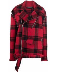 BARBARA BOLOGNA Abrigo corto con cremallera - Rojo