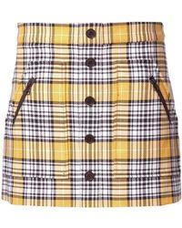 Veronica Beard - Checked Mini Skirt - Lyst