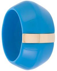EVA レジン&メタル ブレスレット - ブルー