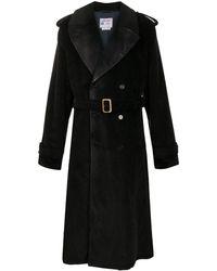 Marni Corduroy Long Trench Coat - Black