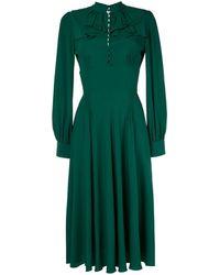 N°21 Ruffle Flare Dress - Green
