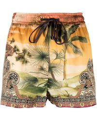 F.R.S For Restless Sleepers Shorts con stampa paisley - Arancione