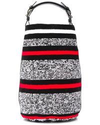 Colville Striped Pattern Tote Bag - Grey