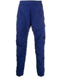 C.P. Company Pantalon de jogging droit à effet brillant - Bleu