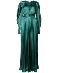 e4d47203ce1e Self-Portrait - Pleated Maxi Dress - Lyst