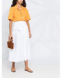 Agnona ラッフル Aラインスカート - ホワイト