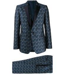Dolce & Gabbana Costume à motif d'étoiles en jacquard - Bleu