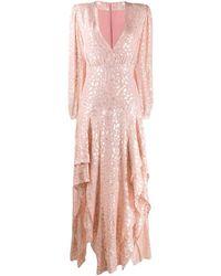 Stella McCartney Vestito lungo con ricamo - Rosa